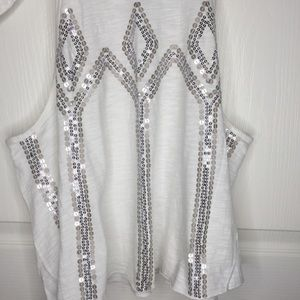 Free People Tops - Free People Glitter City Sequined Tank Top
